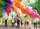 Цветной дым для свадьбы в Актобе